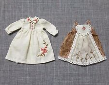NEO BLYTHE DRESS 2 PC FLORAL EMBROIDED VINTAGE STYLE LACE BEAD DECOR OUTFIT