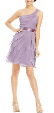 Adrianna Papell New One-Shoulder Tiered Chiffon Dress Size 6 #A 482