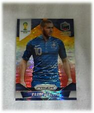 2014 Panini Prizm World Cup Yellow Red Pulsar Karim Benzema - France #82