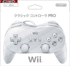 Official Nintendo Wii Classic Pro Wired Controller Pad - White