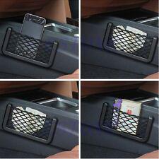 New Universal Car Seat Side Back Net Bag Phone Holder Pocket Black Color