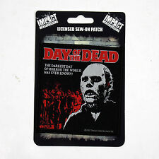 Authentic DAY OF THE DEAD Darkest Day Of Horror Sew On Patch George Romero NEW