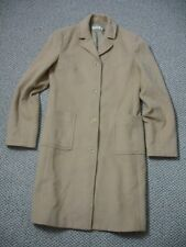 womens ladies J.crew camel wool cashmere full length coat ST small tall WM11C