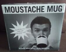 Porcelain Coffee or Tea Moustache  Mug