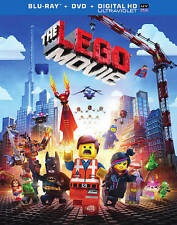 The LEGO Movie (Blu-ray/DVD, 2014, 2-Disc Set, Includes Digital Copy; UV NEW