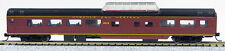 N SMOOTHSIDE PASS CAR 85FT NORFOLK & WESTERN (TUSCAN RED) MID DOME 0001-040222