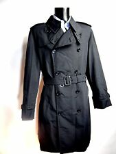 AQUASCUTUM NERO mid-weight BLADEN RAIN TRENCH Sz 44 Bnwt
