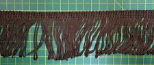 Fringing 65mm Brown Loop Rayon Fring Sash Fring, Fabric Embellishments Per Metre