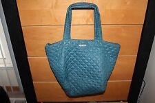 MZ Wallace 'Medium Metro' Quilted Oxford Nylon Tote Teal Jade