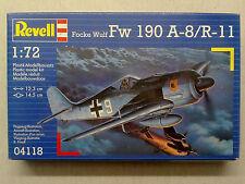 Revell  04118 Focke Wulf Fw 190 A-8/R-11 1:72 Neu & versiegelt mit Lagerspuren