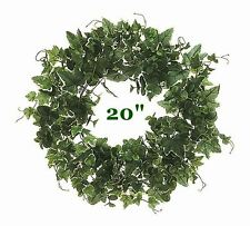 "BEAUTIFUL IVY & EUCALYPTUS WREATH 20"" FOR HOME DECOR or DIY CRAFTS TO DECORATE"
