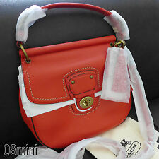 NWT COACH POPPY VERMILLION LEATHER WILLIS CROSSBODY SWING BAG PURSE 19132 NEW