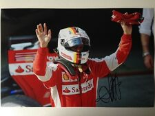Sebastian Vettel / 2015 Ferrari, Hand Signed Autograph Colour photo 30x20cm