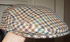 Vintage Dunn & Co 100% Pure New Wool Tweed Flat Cap - The Rutland County Cap