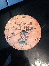 Alice In Wonderland Coaster Mad Hatter We Are All Made Vintage Shabby Chic