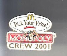 RARE PINS PIN'S .. MC DONALD'S RESTAURANT  MONOPOLY CREW 2001 ~12