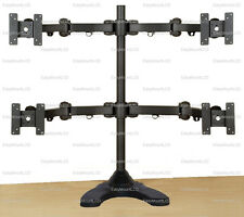 """EZM Articulating Quad Monitor Mount Stand Free Standing Up to 27"""" (002-0028)"""