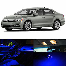 15x Blue Interior LED Lights Package Kit for 2012-2014 Volkswagen Passat B7 VW