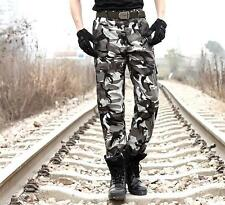 Mens Casual Overall  Camouflage Combat Military Long Pants Camo Cargo Trousers