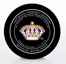 ROGIE VACHON LOS ANGELES KINGS HERITAGE LEGENDS NIGHT OFFICIAL GAME PUCK 11/19
