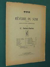 Partition Piano 4 mains Camille SAINT-SAENS Rêverie du soir suite algérienne