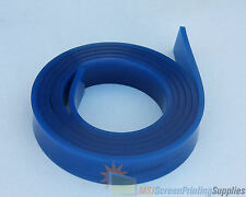 6 FT/Feet Roll - 80 Duro Durometer - Silk Screen Printing Squeegee Blade BLUE