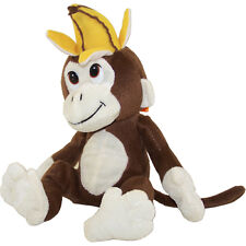 Generic Value Plush - BROWN MONKEY w/ Banana Hat ( 10 inch ) New Stuffed Animal