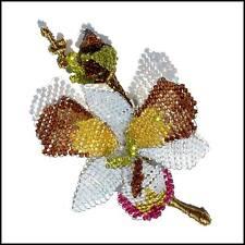 Stunning Swarovski Crystals Orchid Pin Brooch by Mindy Lam
