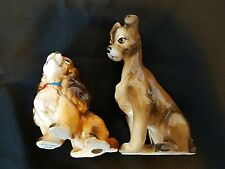 Vintage Walt Disney Productions Japan Lady and the Tramp Ceramic Figurine Set