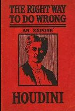 The Right Way To Do Wrong By Harry Houdini Audio Book MP3 CD