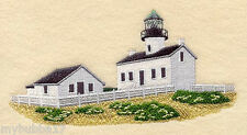 Old Point Loma Lighthouse CalifOR SET OF 2 BATH HAND TOWELS EMBROIDERED BY LAURA