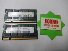 Hynix 2GB (2x1GB) 2Rx8 PC2-5300S DDR2 HYMP512S64CP8 Laptop Memory RAM