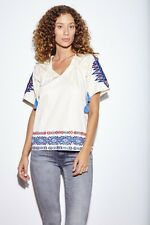 ANTHROPOLOGIE by PEPIN Embroidered Ivory Top Tunic Blouse size M $254 NWT