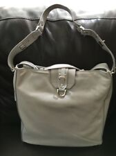 NWT Diesel Black Gold Light Gray Soft Leather Tote Bag