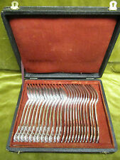 Mid 19th c french sterling silver dessert cutlery set 12pcs rococo st 1320gr