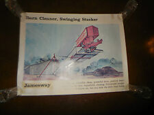 "1976 Original Jamesway Poster Barn Cleaner Stacker 25"" X 28"" NOS Rare Template"