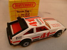 1982 MATCHBOX LESNEY SUPERFAST #39 WHITE RACING TOYOTA SUPRA 41 MIB