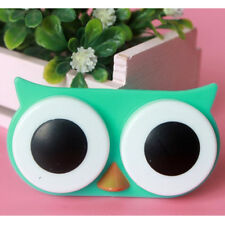 OWL Contact Lens Case Cute Travel Storage Soak Kit Hard Holder Container Box WB