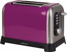 SABICHI PURPLE 2 SLICE TOASTER WITH REMOVABLE CRUMB TRAY