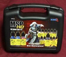 Reaper Master Series HD Paint Set 2 MSP 19 Colors Case Miniature Gaming 09962