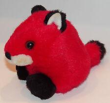 "Franklin Fox Bean Bag Plush 5"" Red Stuffed Animal Toy Puffkins Swibco 1994"
