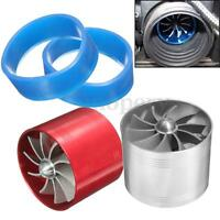CAR AIR FILTER/INTAKE SUPERCHARGER/TURBO FAN -  FUEL SAVER - INCREASE Silver Red