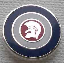 Trojan Target Circle Red, White, Blue And Silver Enamel Pin Badge