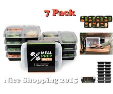 3 Compartment Food Containers Storage Set Travel To Go Meal Reusable Lunch Boxes