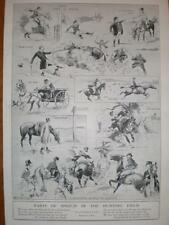 Parts of Speech in a Hunting Field cartoon 1921 print