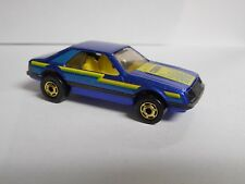 Hot Wheels 1980's Vintage Gold Hot Ones Turbo Mustang Metallic Blue GHO