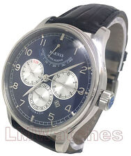 Parnis 42mm Automatic Blue Multi-Function Power Reserve Sapphire Crystal New UK