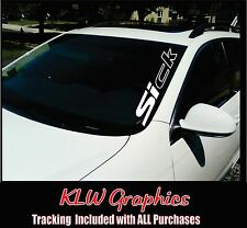 SIck Car Windshield Sticker JDM civic Fresh Detailed Stance Fitment Decal Banner