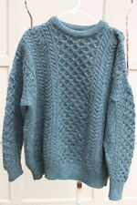 Country Collection XXL Fisherman Sweater Aran Cable Knit Wool Green MENS Ireland