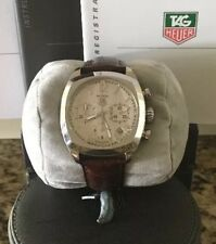 TAG HEUER MONZA SILVER CHRONOGRAPH MENS AUTOMATIC WATCH W/ 2 Heuer Straps